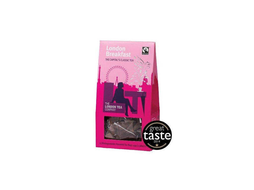 Fairtrade černý čaj pyramidový London Breakfast 15ks