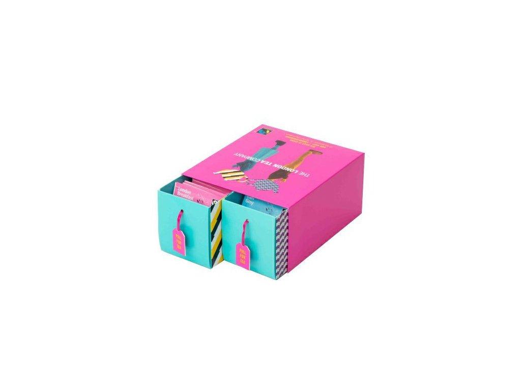 Fairtrade dárková sada mix černých sáčkových čajů DUO pack 50 ks 2 příchuti