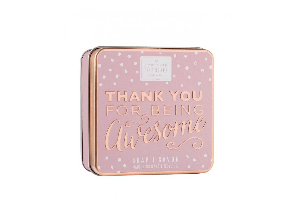 Scottish Fine Soaps Mýdlo v plechu - Thank you For Being Awesome 100g