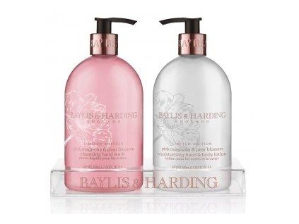 45570 10973 baylis harding tekute mydlo mleko na ruce ruzova magnolie a hruskovy kvet 2x500ml
