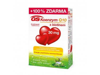GS Koenzym Q10 s biotinem 30mg 30 30 kapsli min