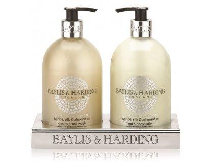 45140 10699 baylis harding tekute mydlo mleko na ruce jojoba hedvabi a mandlovy olej 2x500ml