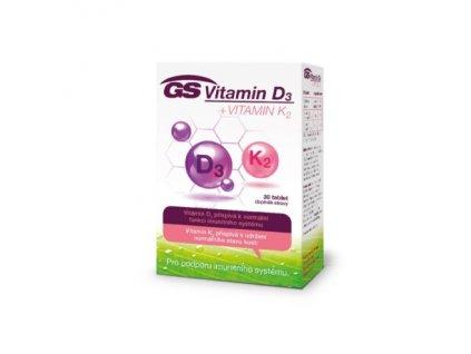 gs vitamin d3 vitamin k2 30 tablet