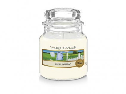 Yankee Candle Clean Cotton vonná svíčka 104g