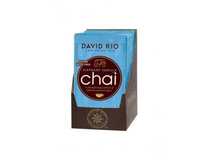 david rio elephant vanilla chai sacky 12x28g bateriovy napenovac mleka jako darek