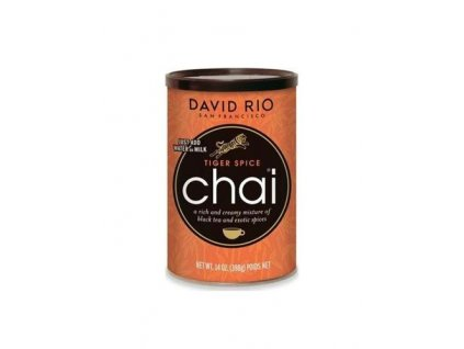 david rio tiger spice chai doza 398 g oranzovy tygri hrnek jako darek