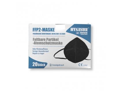 respirator hygisun cerny 20ks
