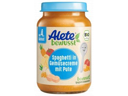 3132050 BIO Alete špagety se zeleninovou omáčkou a krůtím masem 190 g