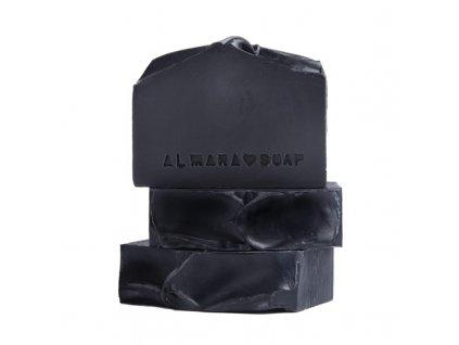 Almarasoap Black As My Soul přírodní mýdlo 90 g