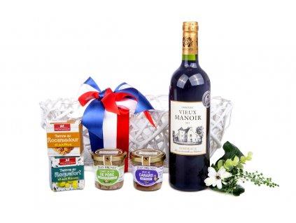 Dárkový koš Francie sýr