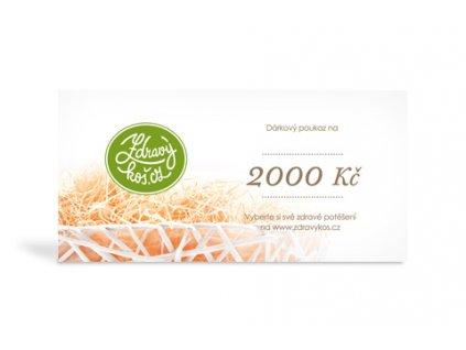 Voucher 2 000 Kč