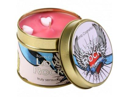 Svíčka Láska jako trám Love Rock