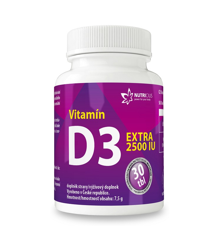 Nutricius Vitamín D3 EXTRA 2500IU 30 tablet