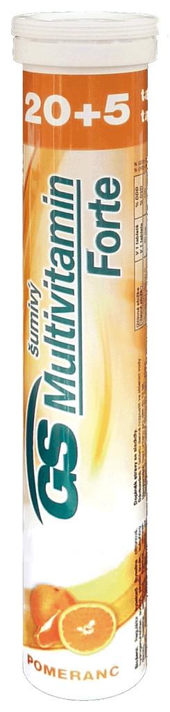 Green Swan Pharmaceuticals GS Multivitamin Šumivý Forte Pomeranč 25 tablet