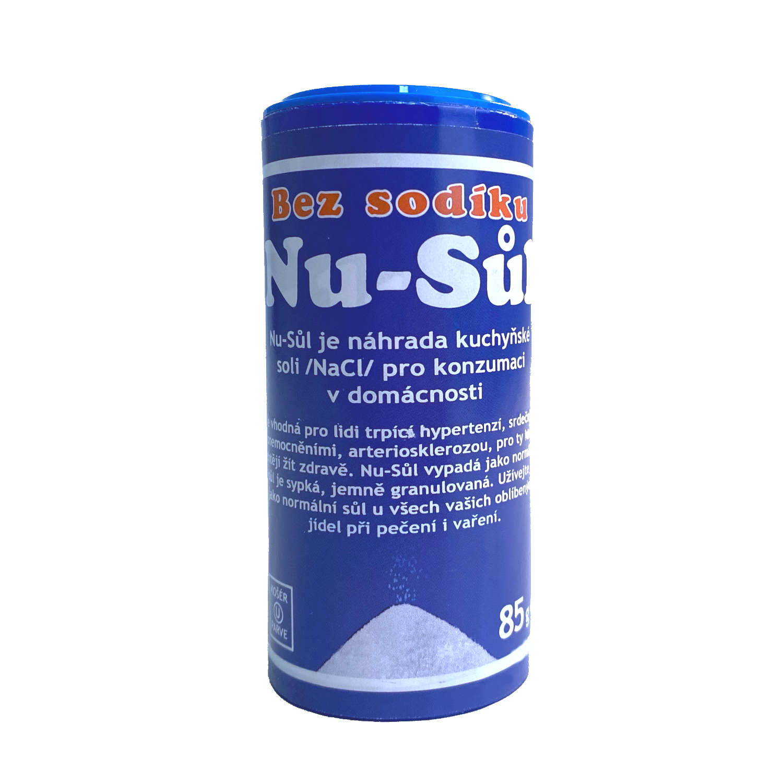 Nu-Sůl - náhrada kuchyňské soli, bez sodíku 85g