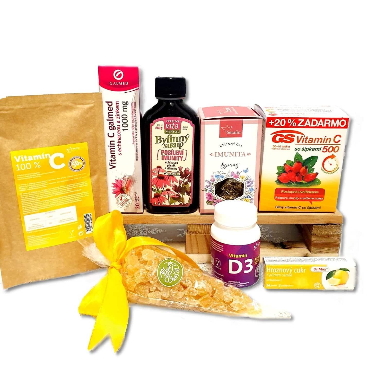 Vitamínový balíček pro posílení imunity s hroznovým cukrem