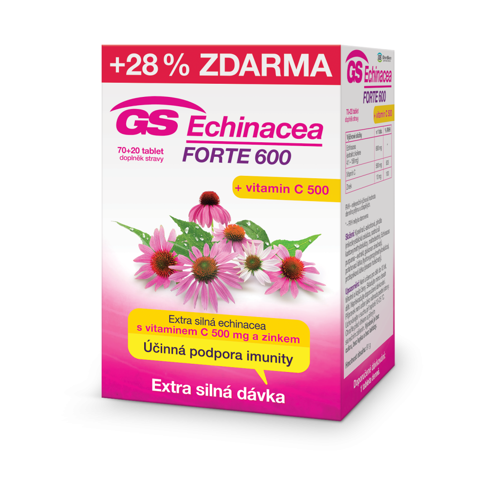 Green Swan Pharmaceuticals GS Echinacea FORTE 600, 70+20 tablet