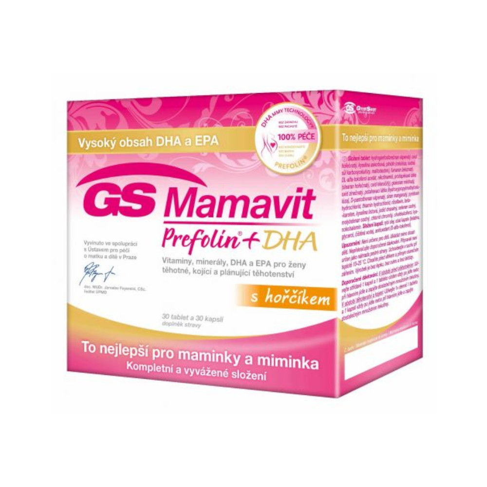 Green Swan Pharmaceuticals GS Mamavit Prefolin+DHA, 30 tablet + 30 kapslí