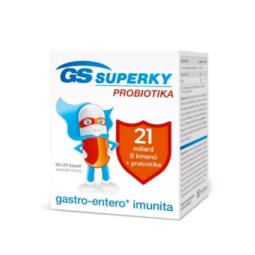 Green Swan Pharmaceuticals GS Superky Probiotika, 60+20 kapslí