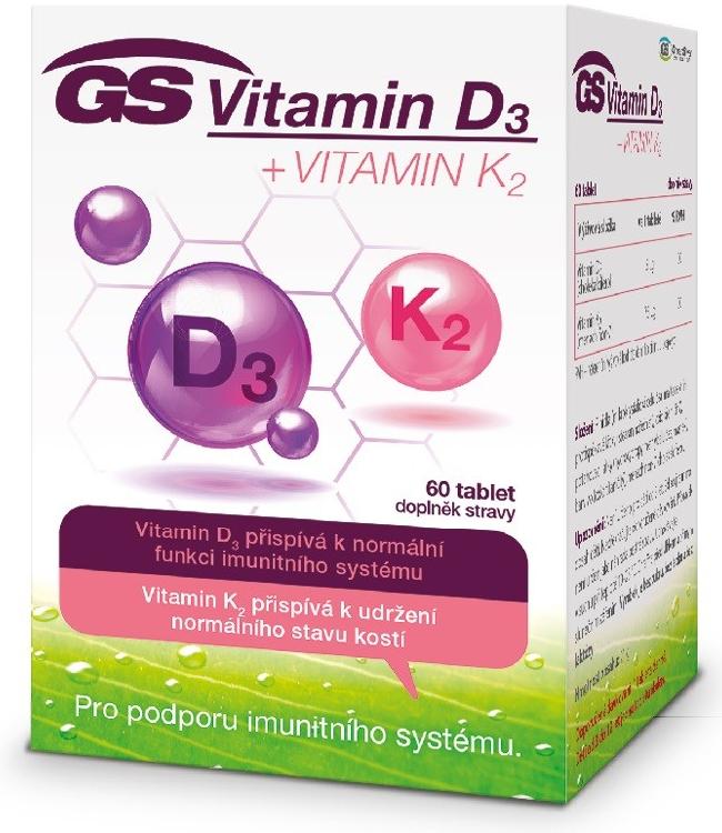 Green Swan Pharmaceuticals GS Vitamin D3 + Vitamin K2, 60 tablet