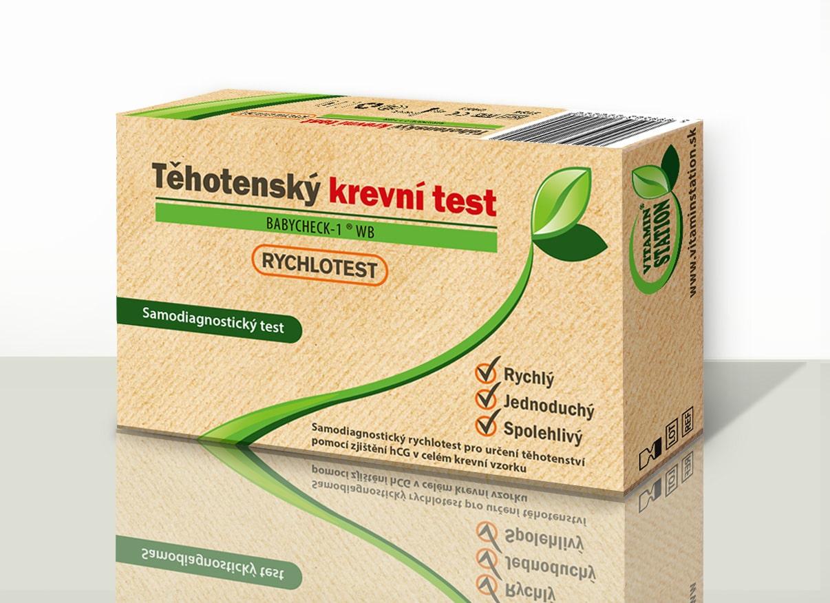 Vitamin Station Rychlotest Těhotenský krevní test