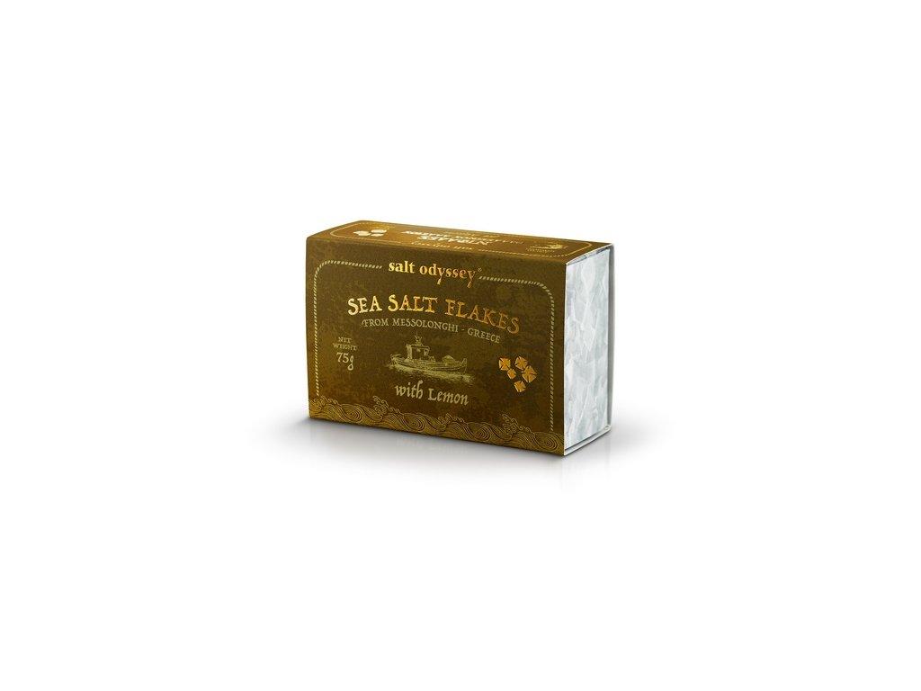 Salt Odyssey Mořská sůl citrónová dárková krabička 75g