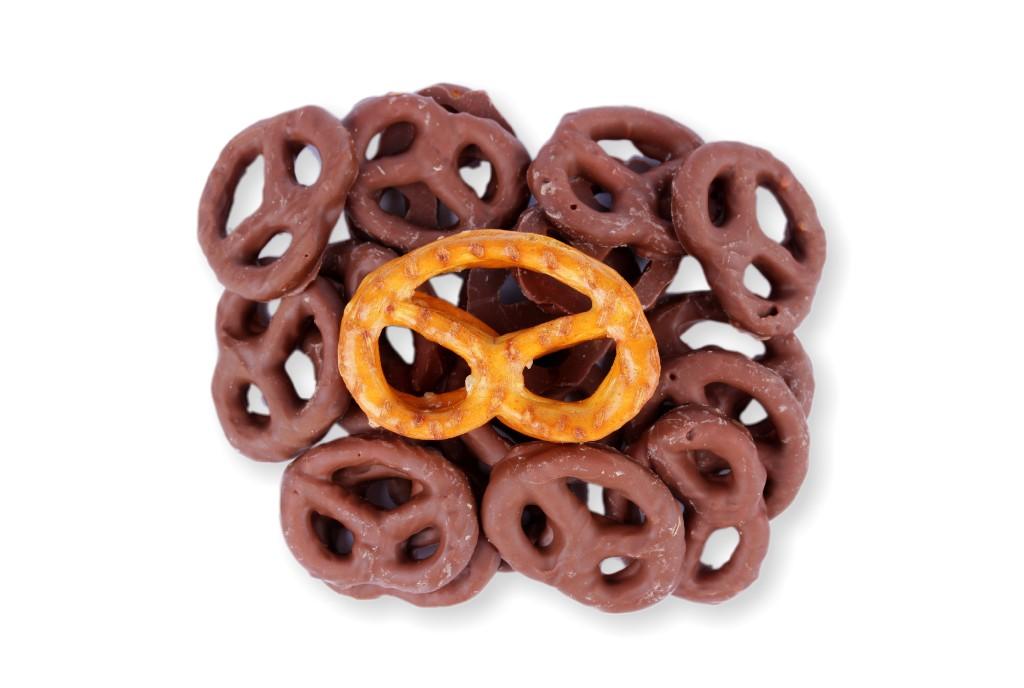Preclíky v mléčné čokoládě Hmotnost: 1000 g