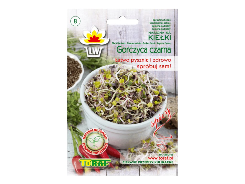 HOŘČICE ČERNÁ - semena na klíčky 20g