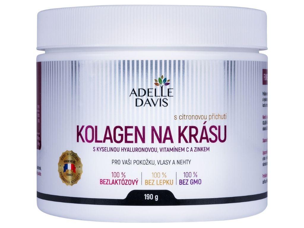 Adelle Davis KOLAGEN NA KRÁSU s kyselinou hyaluronovou, vitamínem C a zinkem