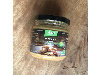 Bio arašídová pasta 180g