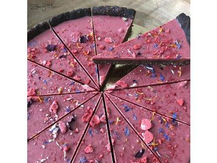 Ovocný dort s chrpou
