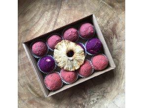 Dárková krabička proteinových a ovocných kuliček bez alergenů 16ks