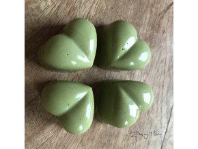 Matcha Tea srdíčko  Pralinka z domácí bílé čokolády obohacené o zelený čaj Matcha Tea