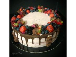 dort s malinami uvnitř