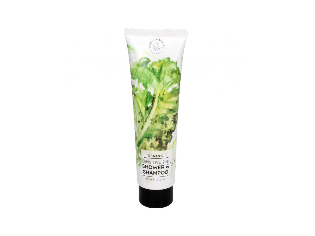 1126 hands on veggies sensitive sprchovy gel a sampon 2v1 kapusta jojoba
