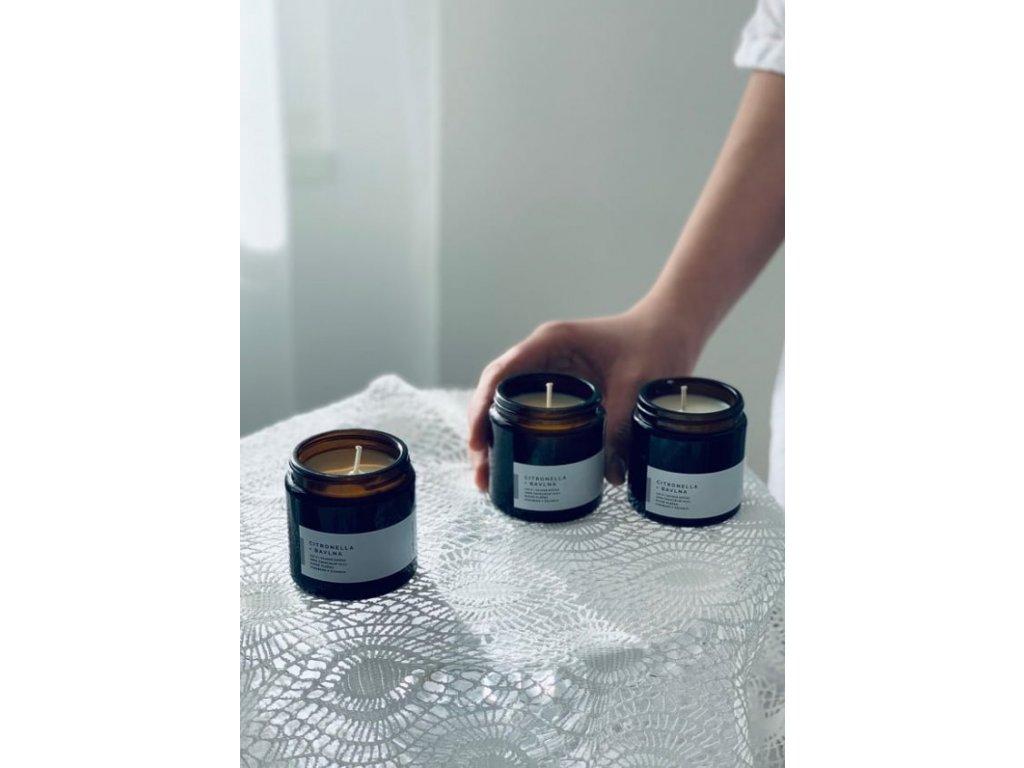 Přírodní svíčka PRO KAŽDÝ DEN 120 ml (Svíčka Zelený čaj)
