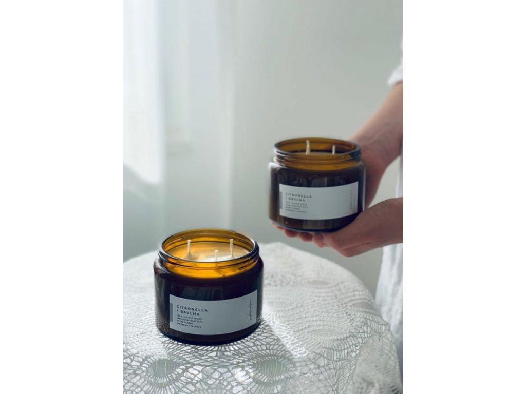 Přírodní svíčka PRO KAŽDÝ DEN 500 ml (Svíčka Zelený čaj)