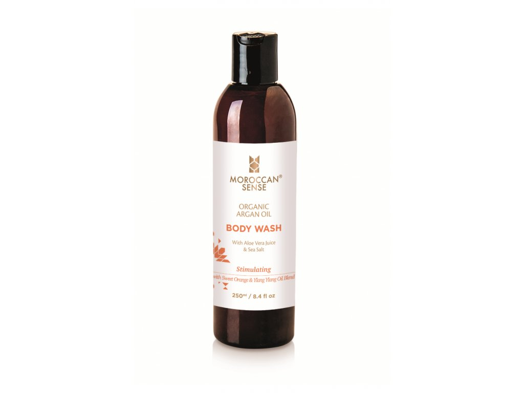 ze zeme moroccan sense sprchovy gel s arganovym olejem pomeranc