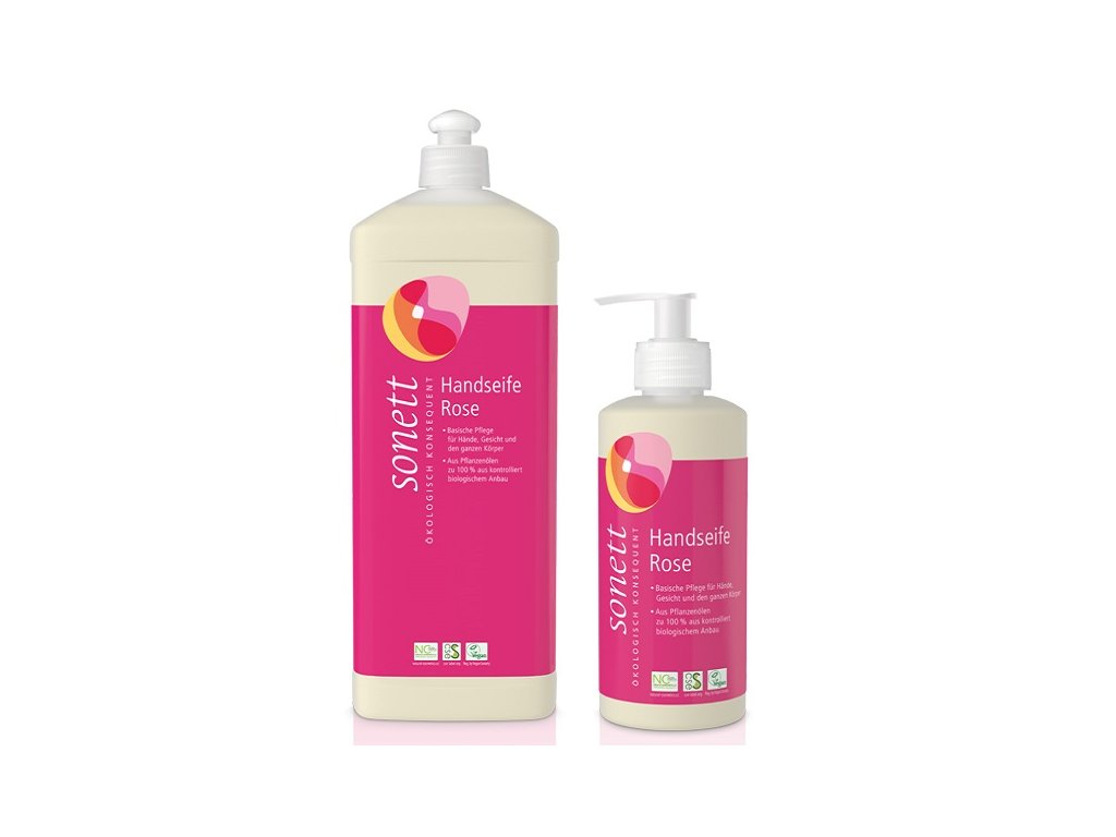 Sonett tekuté mýdlo růže BIO (Objem (ml) 300 ml)