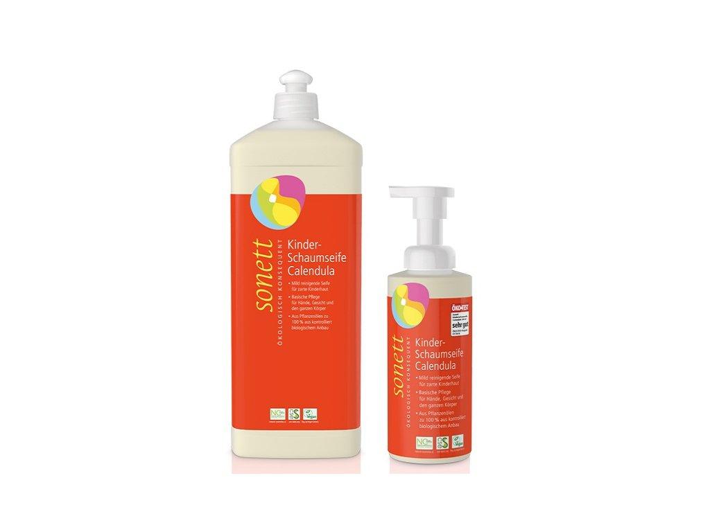 Sonett Tekuté pěnivé mýdlo pro děti - měsíček BIO (Objem (ml) 200 ml)