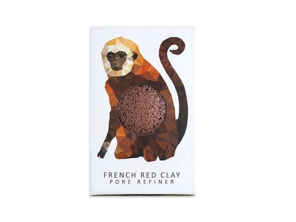 925 konjac sponge opice mini cerveny jil