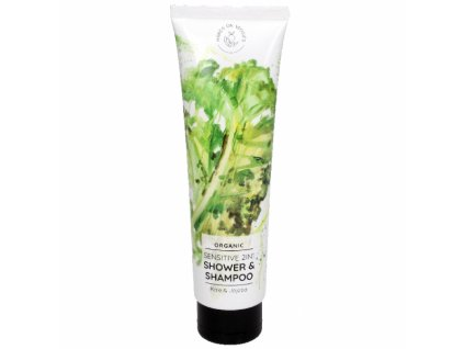 1276 hands on veggies sensitive sprchovy gel a sampon 2v1 kapusta jojoba mini