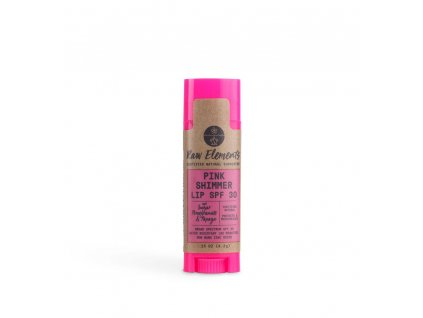ze zeme raw elements pink shimmer lip spf 30