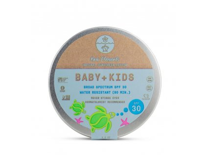 ze zeme raw elements baby kids spf 30 tin