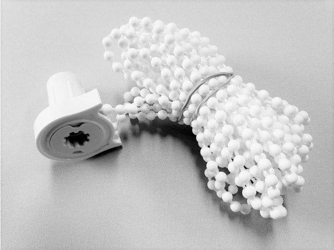 ZEBRAshop rolety KOMPLET řetízek 200cm bílý