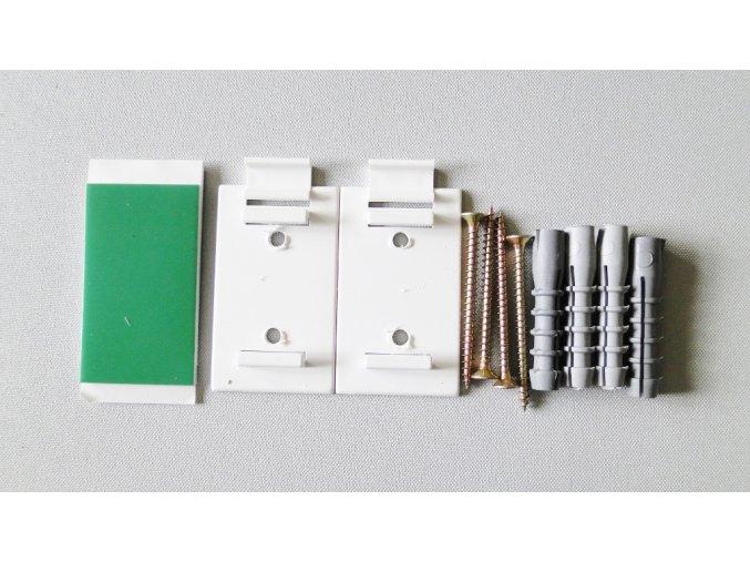 SADA pro montáž do okenního rámu nebo do zdi - bílá