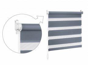 ZEBRAshop rolety den a noc tkanina CHIC DN 6011 OCELOVĚ ŠEDÁ (2) (1024x747)