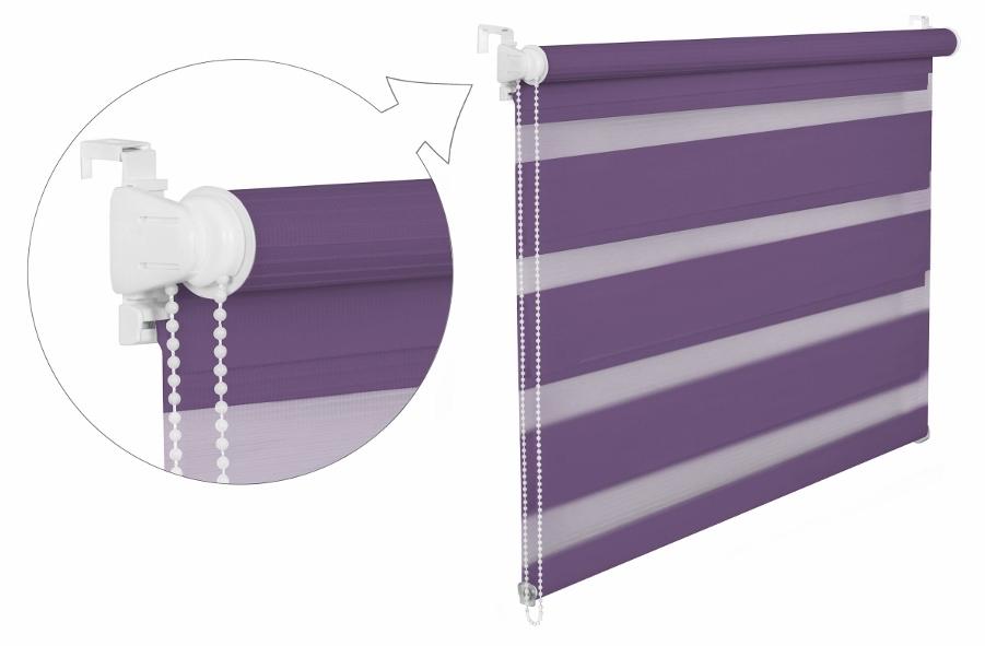 Roleta DEN A NOC / fialová / BH 09 Barva mechanizmu: bílá, Výška: 150, Šířka: 42