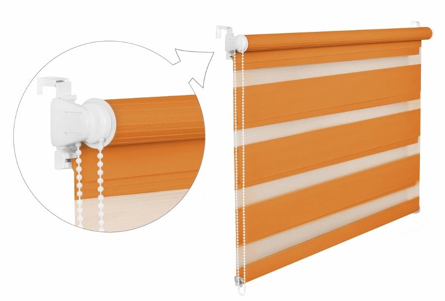 Roleta DEN A NOC / oranžová / BH 1207 Barva mechanizmu: bílá, Výška: 150, Šířka: 82