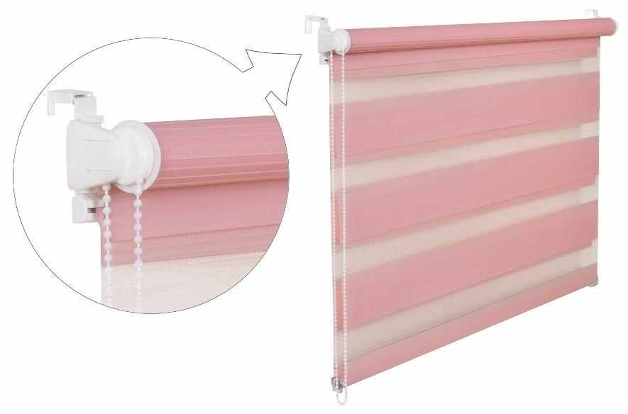 Roleta DEN A NOC / růžová / BH 10 Barva mechanizmu: bílá, Výška: 150, Šířka: 82
